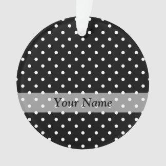 Black  polka dot pattern ornament