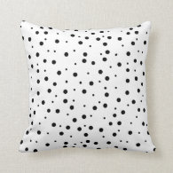 Black Polka Dots (Add 2nd Color) Pillow