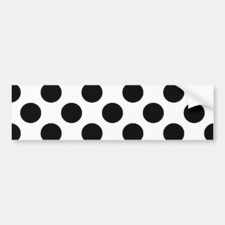 Black Polka Dots Bumper Sticker