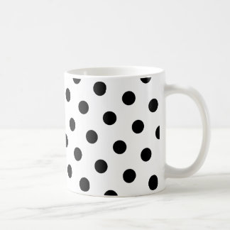 Black Polka Dots Coffee Mug