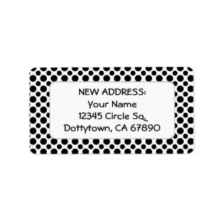 Black Polka Dots Custom New Return Address Label