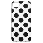 Black Polka Dots iPhone 5 Covers