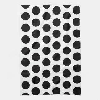 Black Polka Dots Kitchen Towel