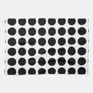 Black Polka Dots Kitchen Towel