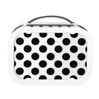 Black Polka Dots Lunch Boxes