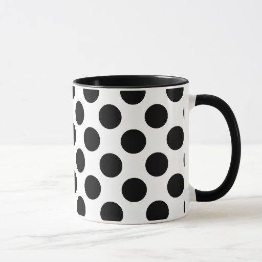 Black Polka Dots Mug