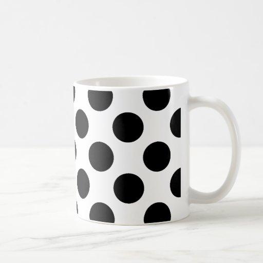 Black Polka Dots Mugs