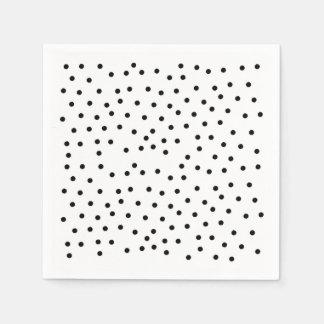 Black polka dots napkin