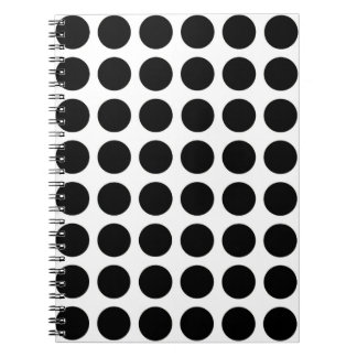 Black Polka Dots Notebook