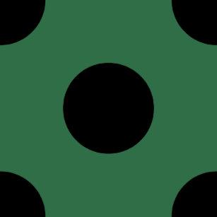 Black Polka Dots On Kelly Green Shower Curtain