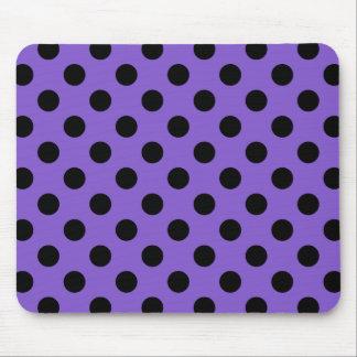 Black polka dots on lavender mouse pad