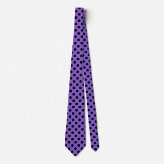 Black polka dots on lavender tie