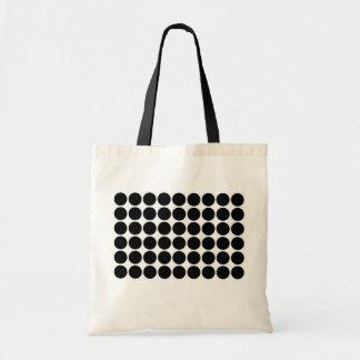 Black Polka Dots on White Bag