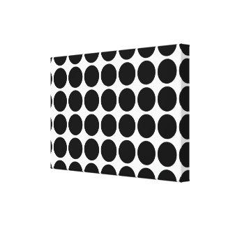 Black Polka Dots on White Canvas Print