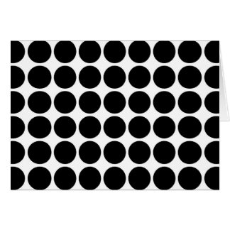 Black Polka Dots on White Card
