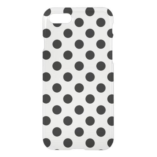 Black Polka Dots on White, cool elegantly Pattern Phone Case