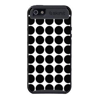 Black Polka Dots on White