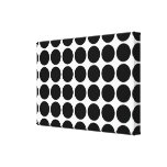 Black Polka Dots on White Gallery Wrap Canvas