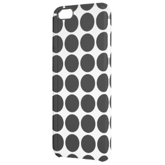 Black Polka Dots on White Uncommon Clearly™ Deflector iPhone 6 Plus Case