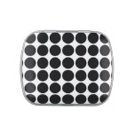 Black Polka Dots on White Jelly Belly Candy Tin