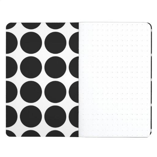 Black Polka Dots on White Journal