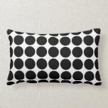 Black Polka Dots on White Pillow