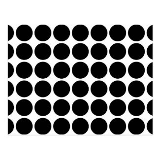 Black Polka Dots on White Postcard