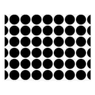 Black Polka Dots on White Postcard