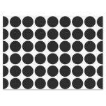 """Black Polka Dots on White Tissue Paper 17"""" X 23"""" Tissue Paper"""