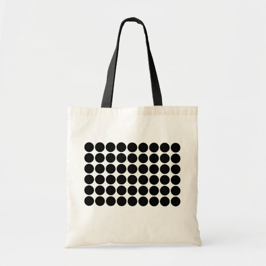 Black Polka Dots on White Tote Bag