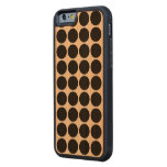 Black Polka Dots on White Carved® Cherry iPhone 6 Bumper Case