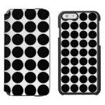 Black Polka Dots on White Incipio Watson™ iPhone 6 Wallet Case