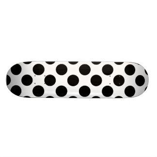 Black Polka Dots Skateboard