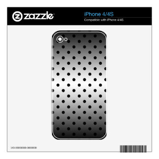 black polka dots skin for iPhone 4S