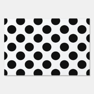 Black Polka Dots Signs