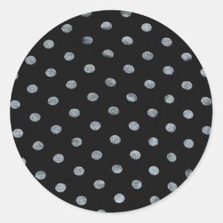 Black Polkadot Stickers