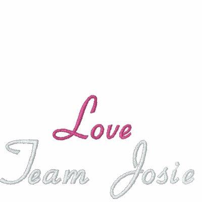 Black Polo Shirt Love Team Josie