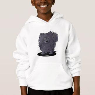 Black Pom Hoodie