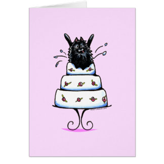 Black Pomeranian Cake Trick Card
