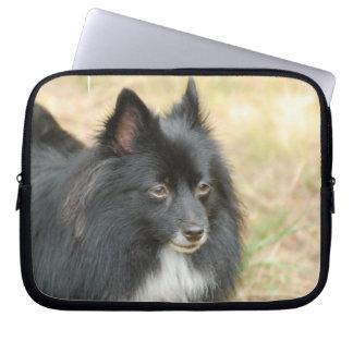 Black Pomeranian Electronics Bag Laptop Sleeve