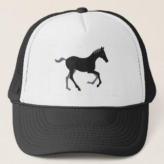 Black pony trucker hat