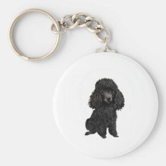 Black Poodle (#3) Keychain
