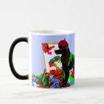Black Poodle Artist Coffee Mug
