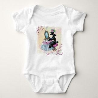 Black Poodle Boudoir Retro Art Baby Bodysuit