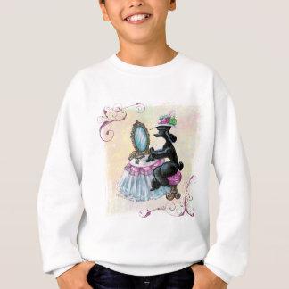 Black Poodle Boudoir Retro Art Sweatshirt