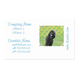 Black Poodle Double-Sided Standard Business Cards (Pack Of 100)
