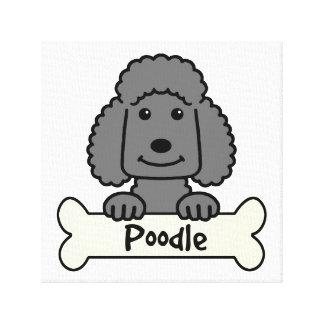 Black Poodle Canvas Print