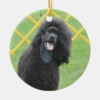 Black Poodle Christmas Ornament