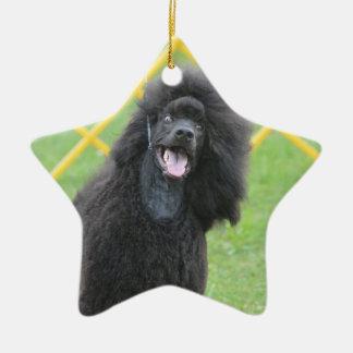 Black Poodle Christmas Ornaments