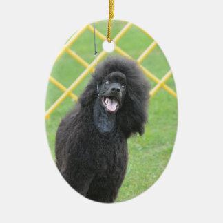 Black Poodle Christmas Tree Ornament